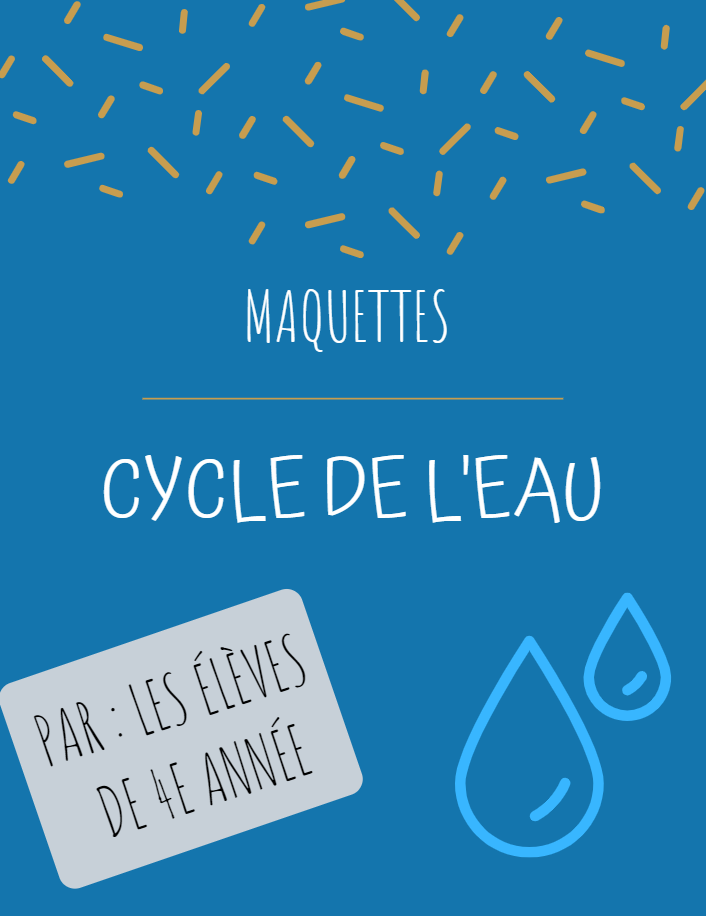 Cycle de l'eau – classe de Pascale