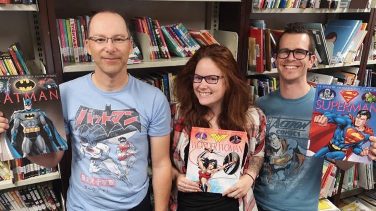 Visite des bibliothécaires et superhéros des livres!